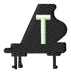 Grand Piano T embroidery design