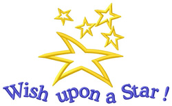 Wish Upon a Star! embroidery design