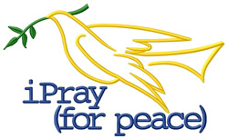 iPray (For Peace) embroidery design