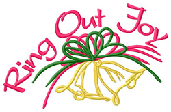 Ring Out Joy embroidery design