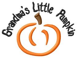 Grandmas Little Pumpkin embroidery design