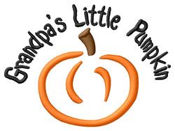Grandpas Little Pumpkin embroidery design
