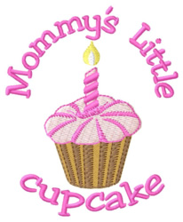 Mommys Cupcake embroidery design