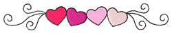 Four Hearts Border embroidery design