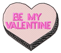 Valentine Candy Heart embroidery design