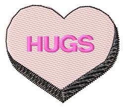 Hugs embroidery design