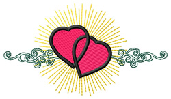 Radiant Hearts embroidery design