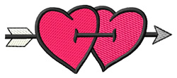 Pierced Hearts embroidery design