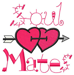 Soul Mates embroidery design