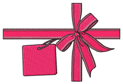 Ribbon & Tag embroidery design