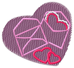 Abstract Valentine embroidery design