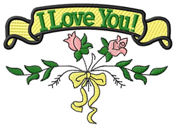 I Love You! embroidery design