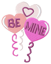 Be Mine Balloons embroidery design