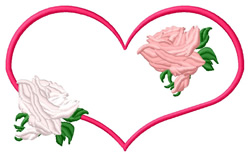 Heart & Roses embroidery design
