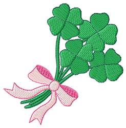 Clover Bouquet embroidery design