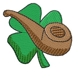 Shamrock and Pipe embroidery design