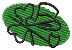 Oval St. Patrick Design embroidery design