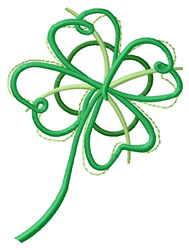 Abstract Shamrock embroidery design