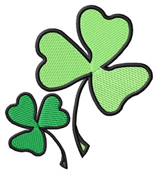 Two Shamrocks embroidery design