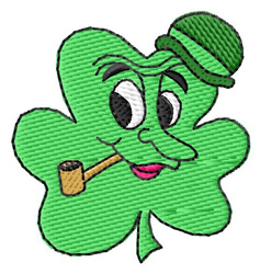 Shamrock Face #1 embroidery design