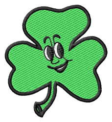 Shamrock Face #2 embroidery design