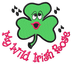 Shamrock Face #3 embroidery design