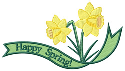 Happy Spring! embroidery design