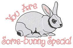Some-bunny Special embroidery design