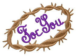 For You embroidery design