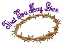 That You May Live embroidery design