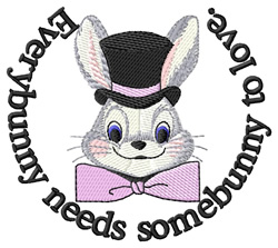 Somebunny to Love embroidery design