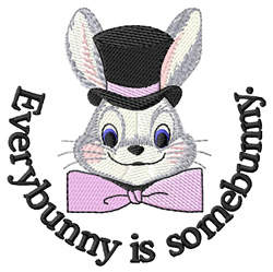 Everybunny is Somebunny embroidery design
