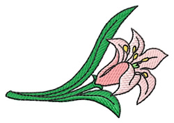 Lily embroidery design