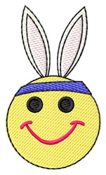 Smiley Bunny embroidery design