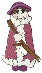 Comical Father Christmas embroidery design