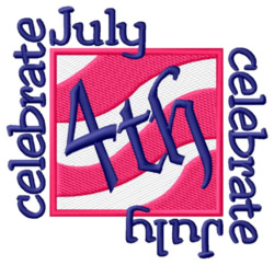 Celebrate July 4th embroidery design