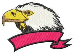Eagle with Banner embroidery design