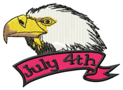 July 4th embroidery design