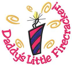 Daddys Little Firecracker embroidery design