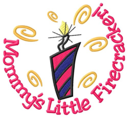Mommys Little Firecracker embroidery design