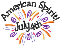 American Spirit embroidery design
