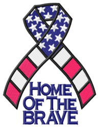 Home of the Brave embroidery design