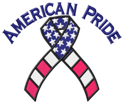American Pride embroidery design