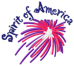 Spirit of America embroidery design
