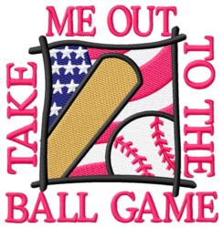USA Flag with Baseball embroidery design