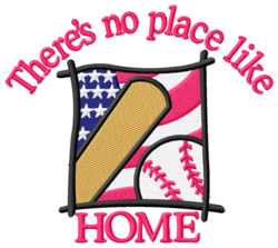 Patriotic Baseball embroidery design
