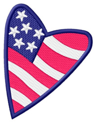 American Heart embroidery design