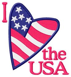 I Love the USA embroidery design