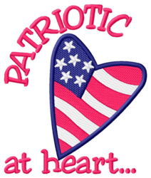 Patriot at Heart embroidery design