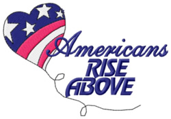 Rise Above embroidery design
